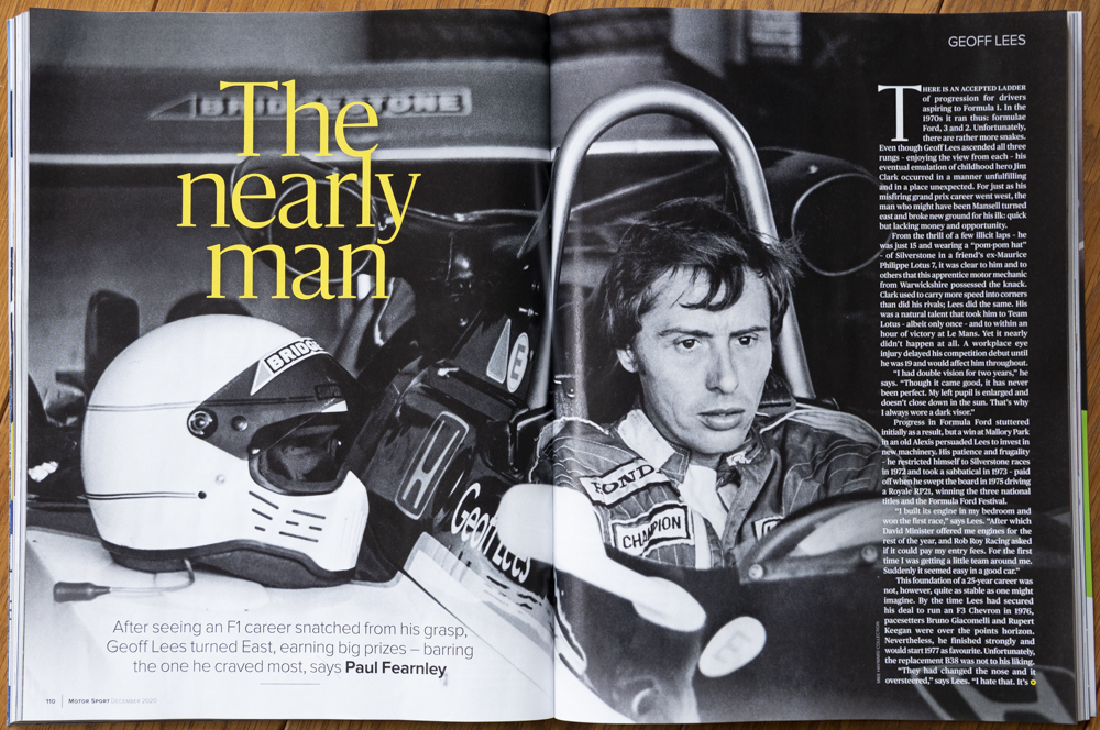 Magazine highlights F2 champ Geoff Lees