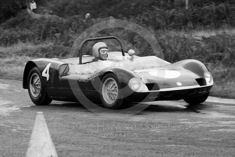 Action at Loton Park Hill Climb, 1967.