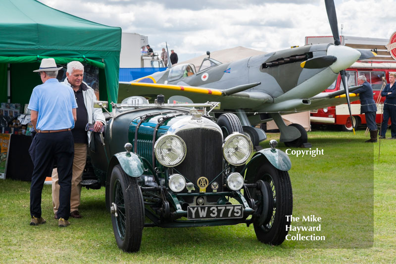 1928 4.5 litre Bentley and Spitfire at the 2016 Silverstone Classic.