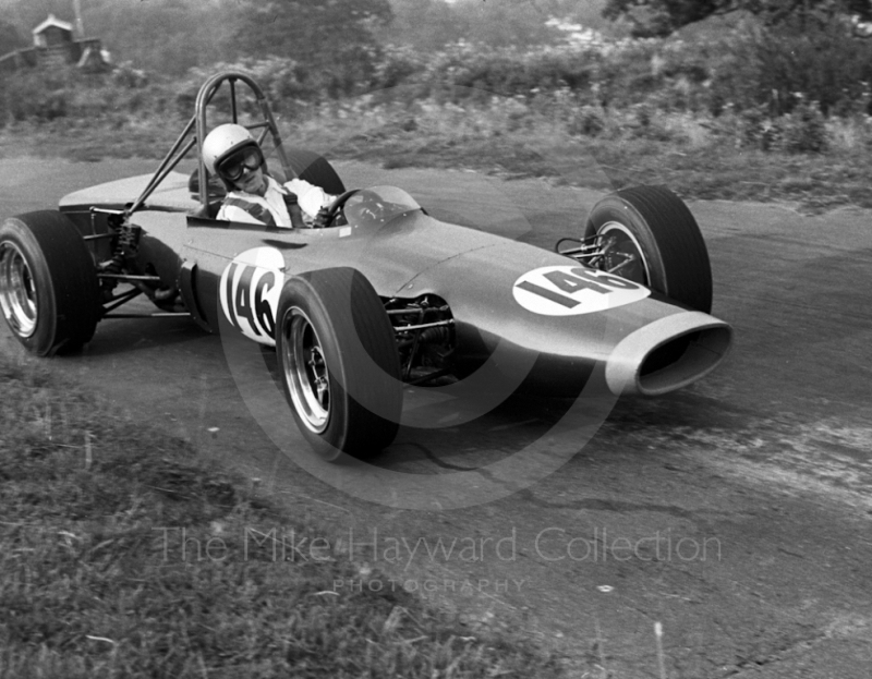 Peter Lawson, BRM 670-P 4WD, Prescott, September, 1968.
