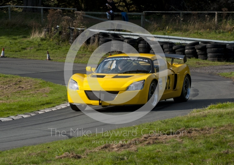 Mike Turpin, Vauxhall VX220, Hagley and District Light Car Club meeting, Loton Park Hill Climb, September 2013.