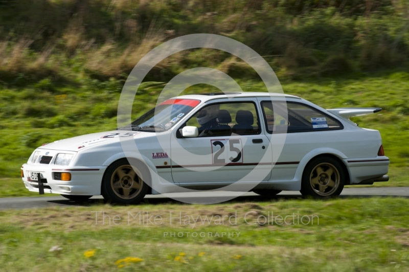 Dave Parr, Ford Sierra Cosworth, Hagley and District Light Car Club meeting, Loton Park Hill Climb, September 2013.