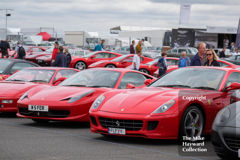 Ferrari Owner's Club at the 2016 Silverstone Classic.