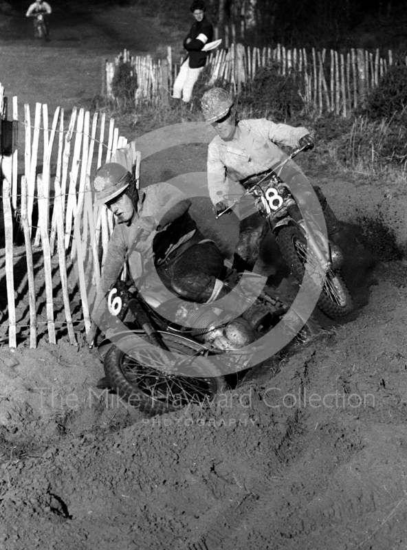 Motocross event held at Hawkstone, Shropshire, in 1965.