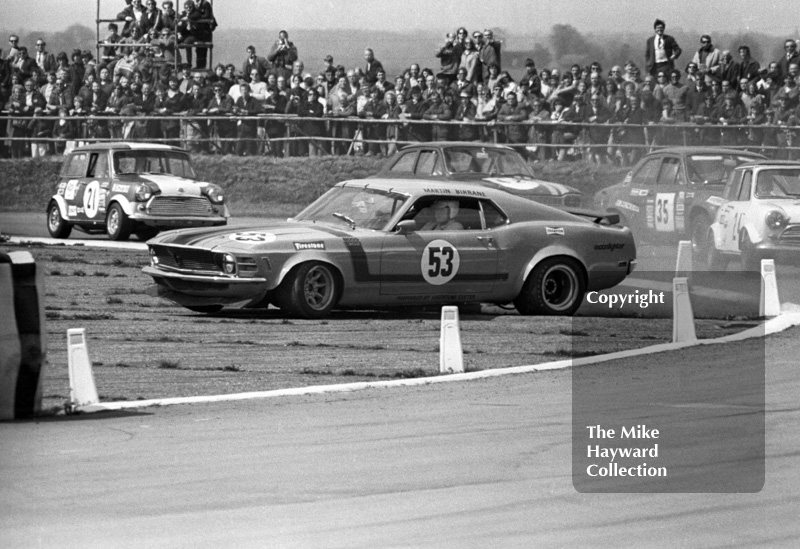 Martin Birrane, Ford Mustang, GKN Transmissions Trophy, International Trophy meeting, Silverstone, 1971.