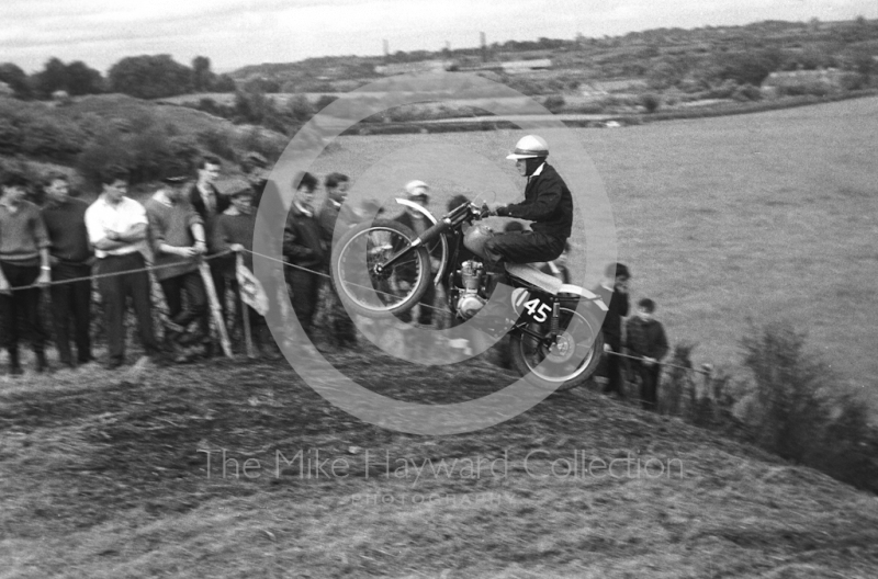 Airborne at Malinslee, motorcycle scramble at Spout Farm, Malinslee, Telford, Shropshire between 1962-1965