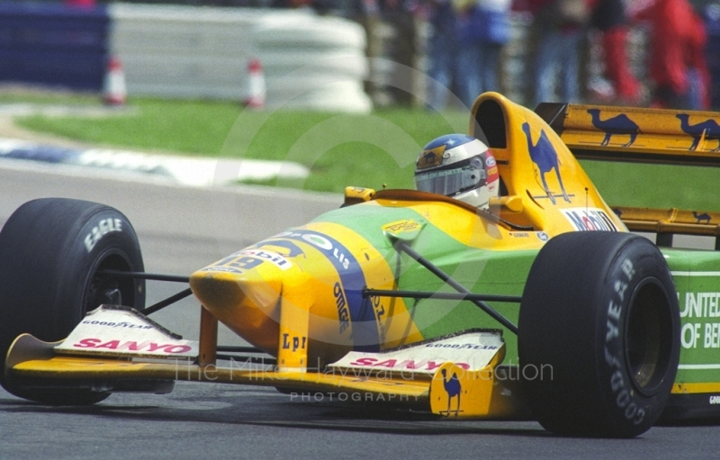 Michael Schumacher, Benetton B192 Cosworth V8, British Grand Prix, Silverstone, 1992