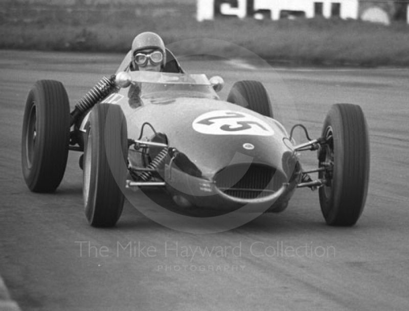 P Fraser, Lotus 16, Historic Race, Silverstone Martini International Trophy meeting 1969.