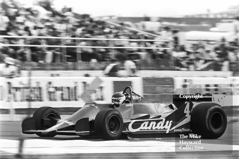Jean Pierre Jarier, Tyrrell 009-3, on the way to 3rd place, Silverstone, British Grand Prix 1979.