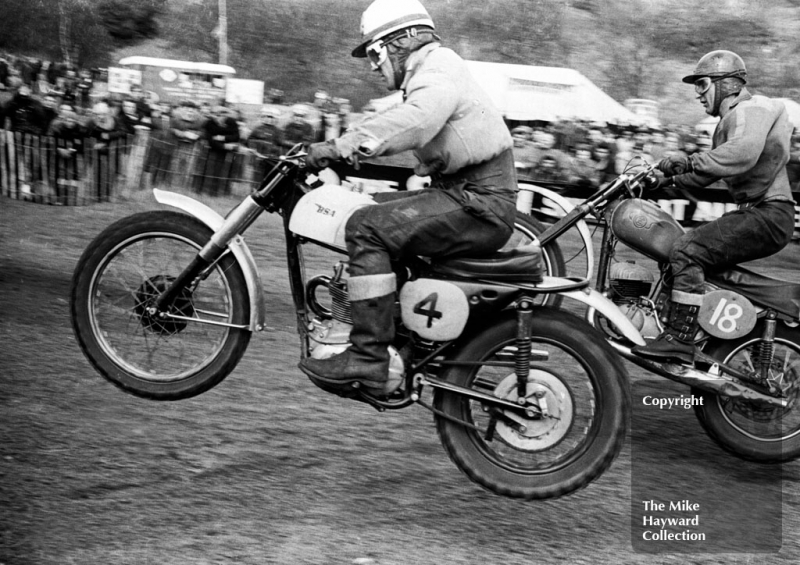 Jeff Smith, BSA, 1966 ACU Championship meeting, Hawkstone.