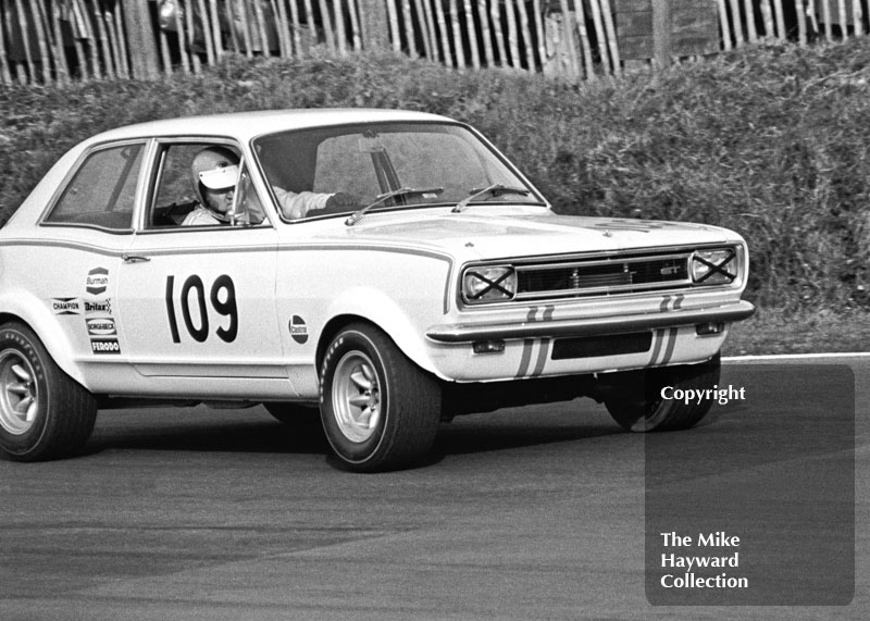 Gerry Marshall, Shaw & Kilburn Ltd Vauxhall Viva GT, Guards Trophy Touring Car Race, Race of Champions meeting, Brands Hatch, 1970.