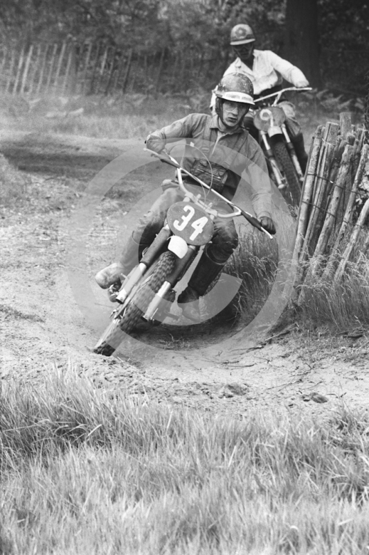 Solo riders, 1966 motocross meeting, Hawkstone.
