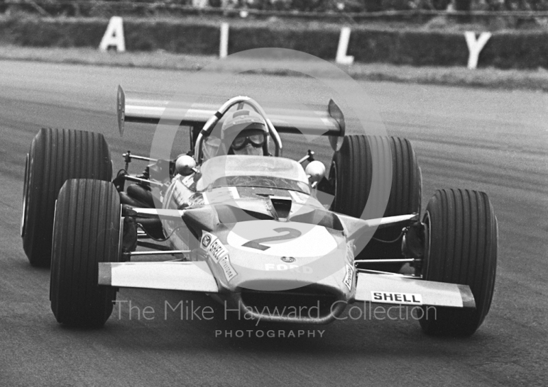 Jochen Rindt, Gold Leaf Team Lotus 49B, Silverstone, 1969 British Grand Prix.