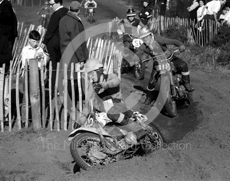 J Burbridge, 250cc Greeves, Hawkstone Park, March 1965.