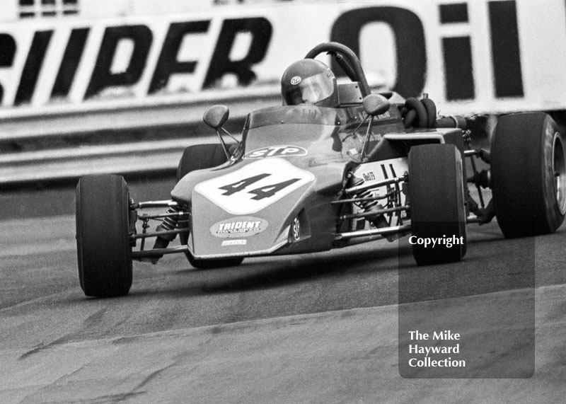 Bob Evans, Alan McKechnie Racing March 723, Oulton Park John Player Formula 2 meeting, 1972.