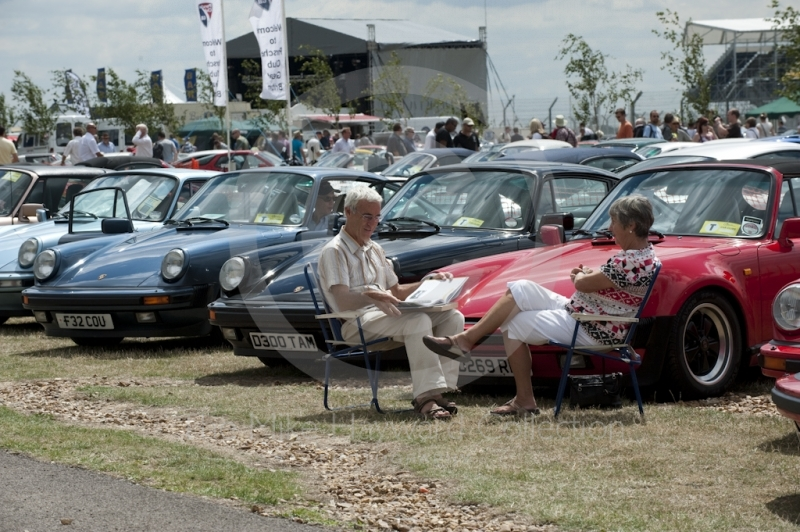 Time to relax in the Porsche Club of Great Britain enclosure, Silverstone Classic, 2010
