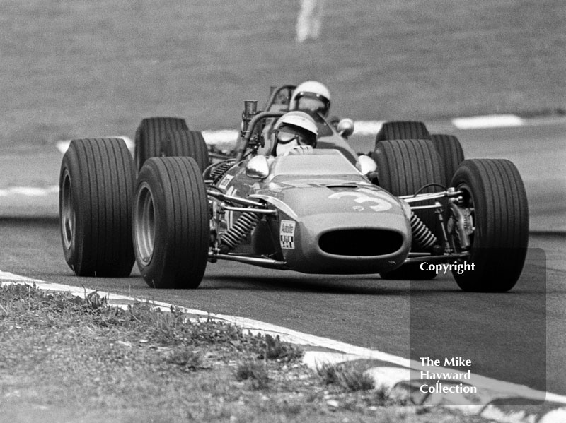 Chris Craft, Tecno 68, on the way to 3rd place, F3 Clearways Trophy, British Grand Prix, Brands Hatch, 1968