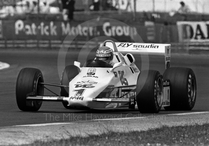 Keke Rosberg, Saudia Williams FW08C, British Grand Prix, Silverstone, 1983