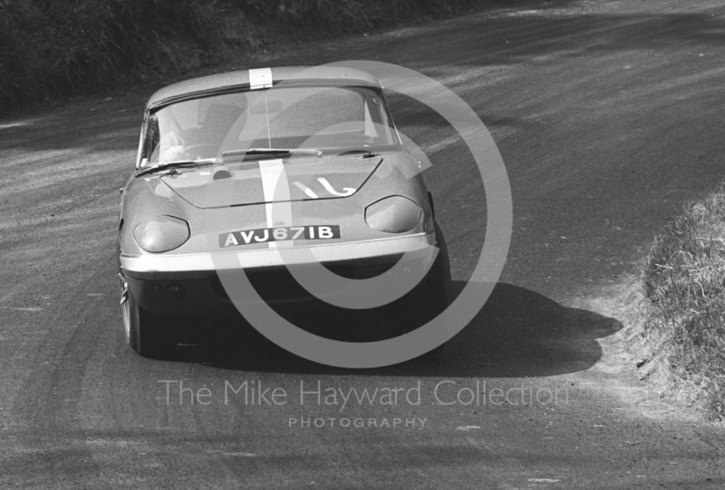 G Keylock, Lotus Elan, AVJ 671B, Shelsley Walsh Hill Climb June 1967.