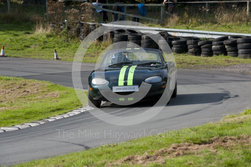 Paul Webster, Mazda MX5, Hagley and District Light Car Club meeting, Loton Park Hill Climb, September 2013.
