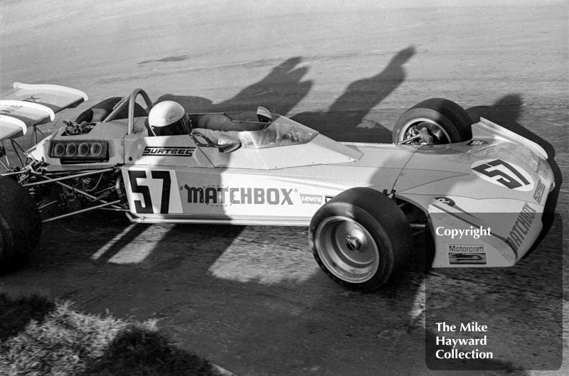 Mike Hailwood, Matchbox Team Surtees TS10-01, Mallory Park, March 12 1972.