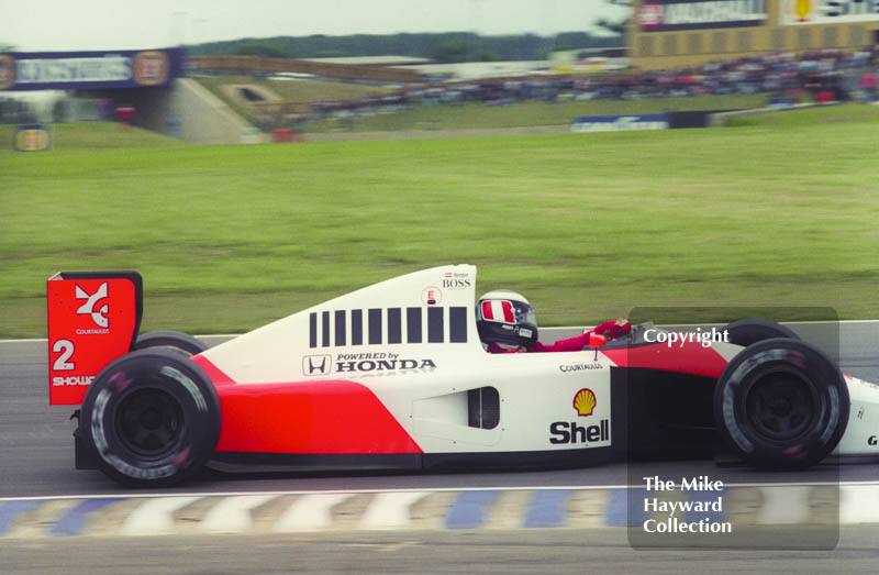 Gerhard Berger, McLaren MP4-6, Silverstone, British Grand Prix 1991.