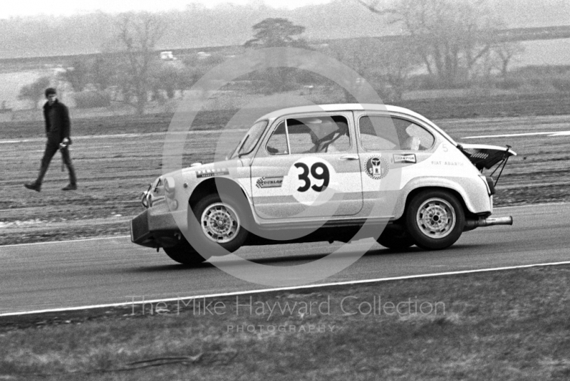 Ab Goedemans, SRT Holland Fiat Abarth 1000 Berlina, Thruxton Easter Monday meeting 1968.