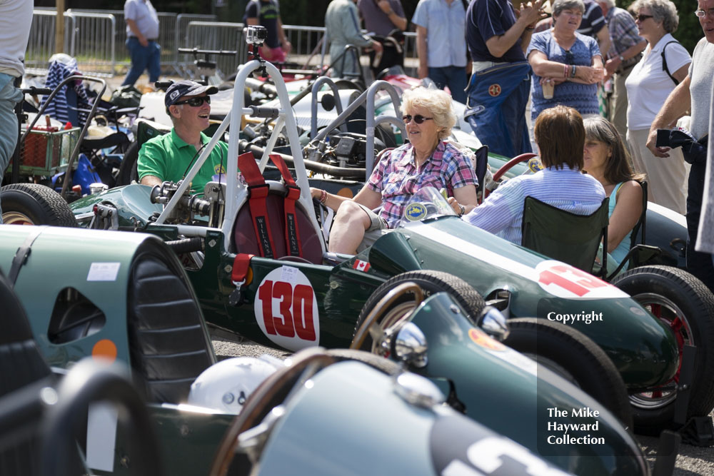 Sunshine break in the paddock, Chateau Impney Hill Climb 2015.