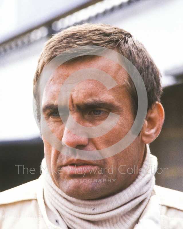 Carlos Reutemann before the start of the race, Silverstone, British Grand Prix 1979.