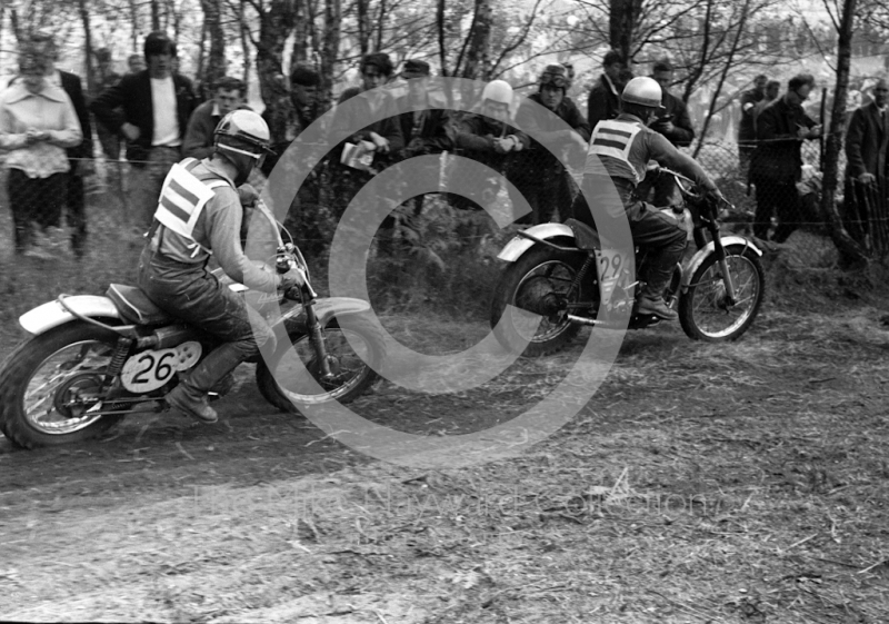B Hartleman, BSA, Holland, R Boom, Lindstrom, Holland, 1964 Motocross des Nations, Hawkstone Park.