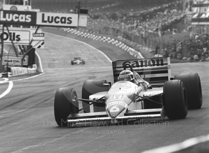 Nelson Piquet, Williams Honda, Brands Hatch, British Grand Prix 1986.