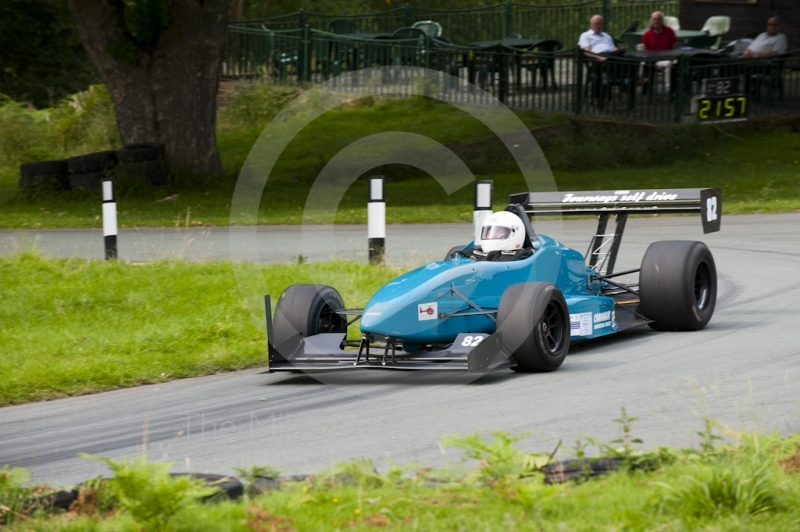 Neville Thomson, Dallara F399, Hagley and District Light Car Club meeting, Loton Park Hill Climb, August 2012.