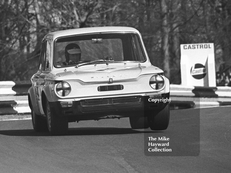 Ray Calcutt, Hillman Imp, Forward Trust Special Saloon Car Race, Mallory Park, 1972.