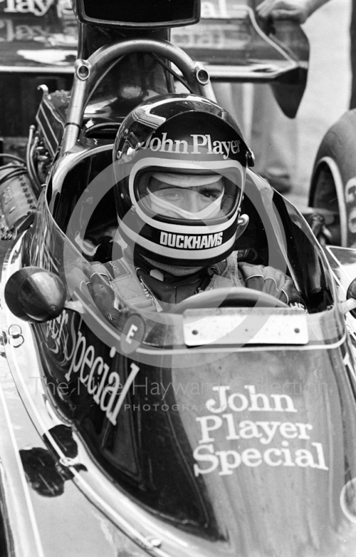 Jacky Ickx, JPS Lotus 72E, Brands Hatch, British Grand Prix 1974.
