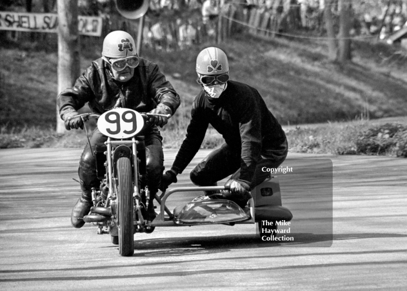 O Neal and P Neal, 1928 Scott, 39th National Open meeting, Prescott Hill Climb, 1970.