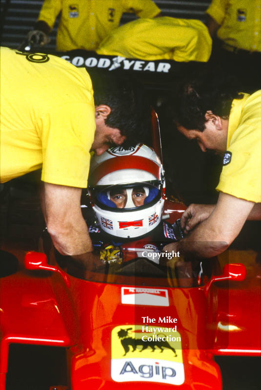 Nigel Mansell, Ferrari 640 V12, during practice for the British Grand Prix, Silverstone, 1989.