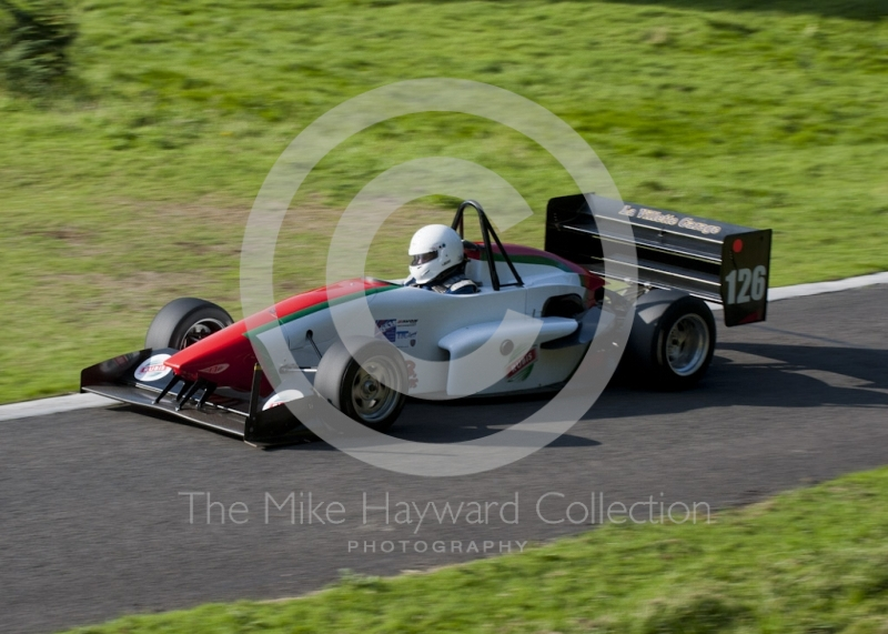 Geoff Guile, OMS CF04, Hagley and District Light Car Club meeting, Loton Park Hill Climb, September 2013.