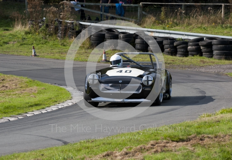 Matthew Price, MG Midget, Hagley and District Light Car Club meeting, Loton Park Hill Climb, September 2013.