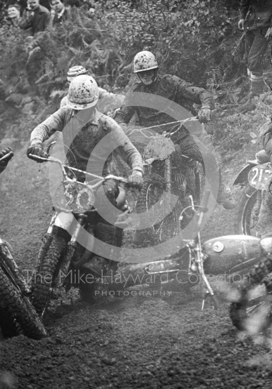 Bikes on the hill at Hawkstone Park, August 1968.