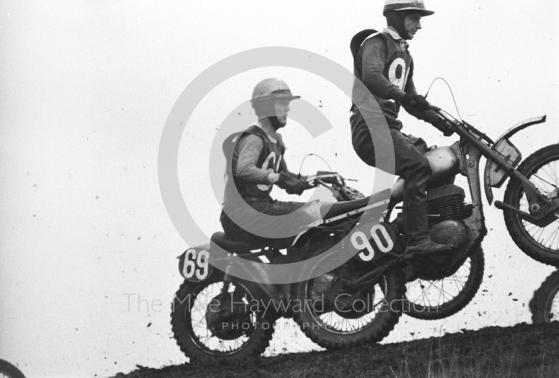Solo action at Spout Farm, motorcycle scramble at Spout Farm, Malinslee, Telford, Shropshire between 1962-1965