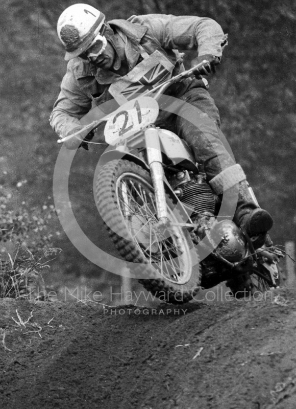 Jeff Smith, BSA 500, 1965 Motocross Grand Prix, Hawkstone.