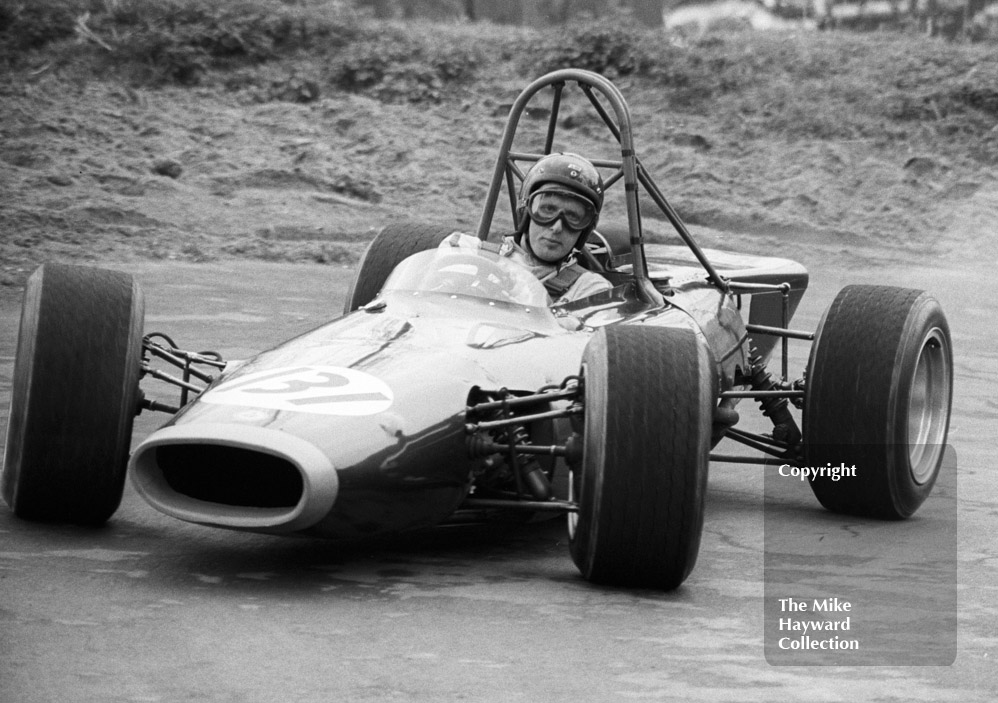 John Cussins, BRM 4WD 670P, 37th National Open meeting, Prescott Hill Climb, 1969