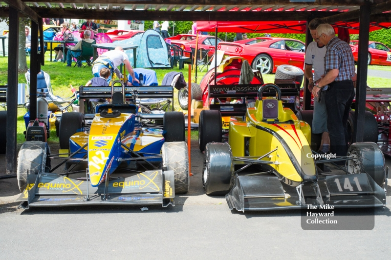 Tony Hunt's Force PC and Nev Rollason's OMS 28S, Shelsley Walsh Hill Climb, June 1st 2014.