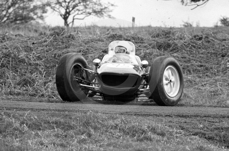 P Cottrell, Felday Daimler, sixth National Loton Park Speed Hill Climb, April 1965.