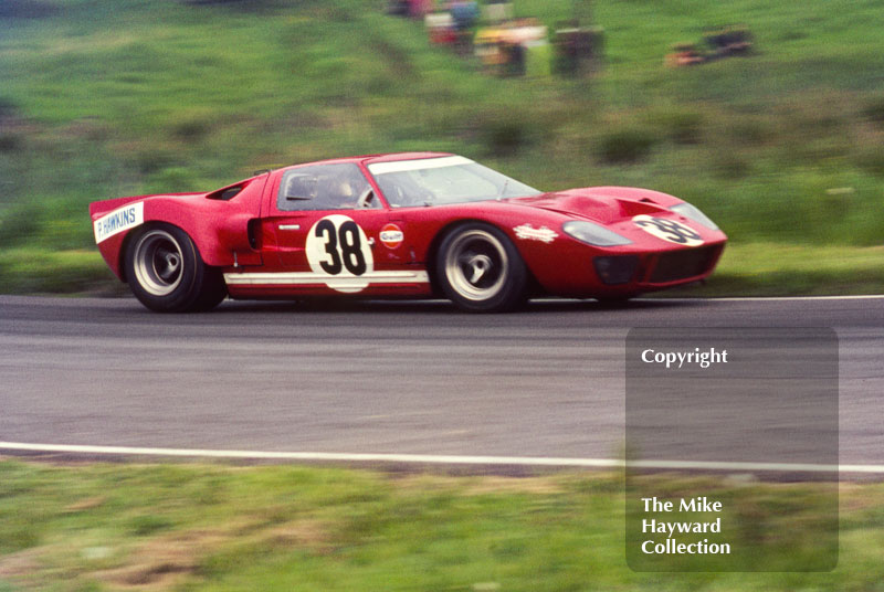 Paul Hawkins, Ford GT40, Oulton Park, Tourist Trophy 1968.