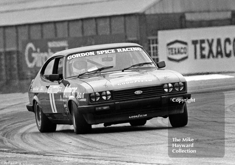 Gordon Spice, Ford Capri Mk 3, Tricentrol British Saloon Car Race, Donington Park, 1979