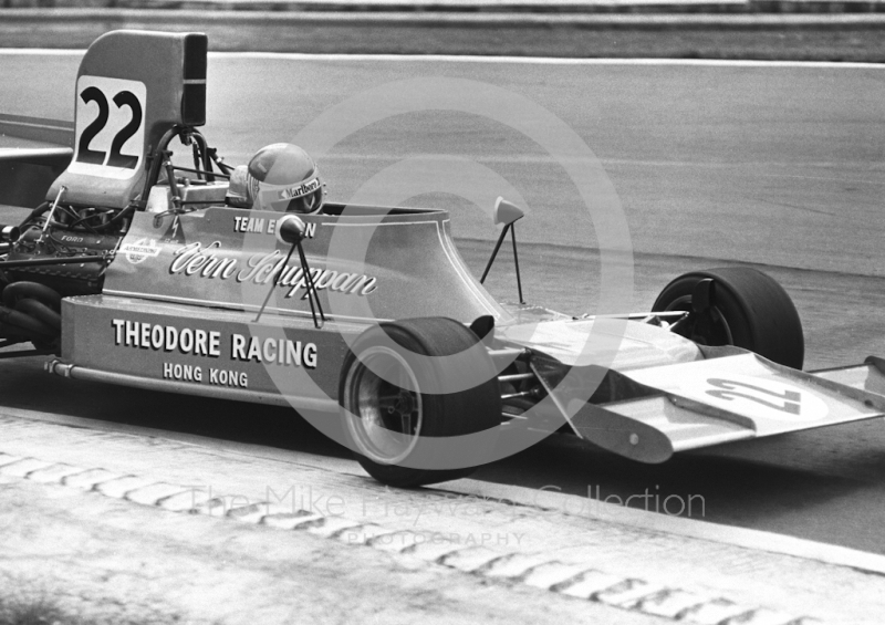 Vern Schuppan, Ensign N174 Cosworth V8, Brands Hatch, British Grand Prix 1974.