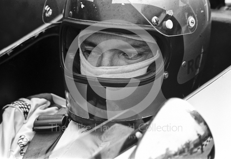 Pedro Rodriguez on the grid, BRM P153 V12, British Grand Prix, Brands Hatch, 1970