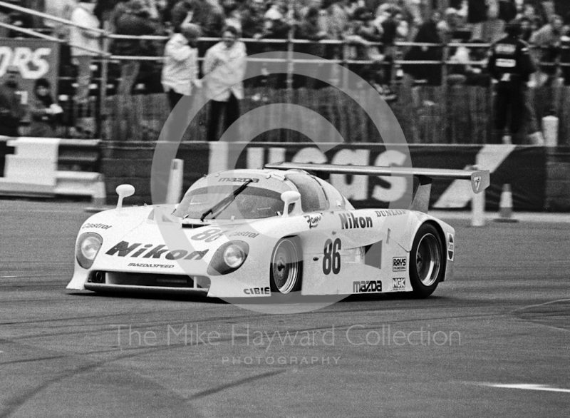 Yojiro Terada/David Kennedy, Mazda 737C, World Endurance Championship, 1984 Grand Prix International 1000km meeting, Silverstone.