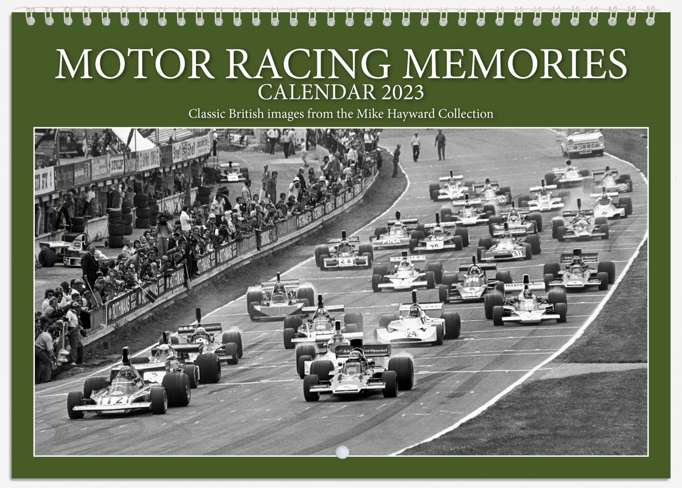 British motor sport highlights from 1965 to 1986 are featured in the Motor Racing Memories Calendar 2021 from the Mike Hayward Collection.